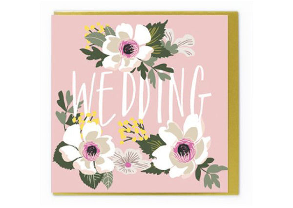 Pink Floral WEDDING Gift Card - Pop Roc Parties