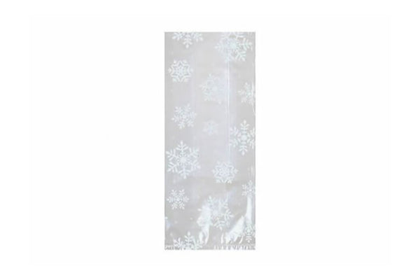 Large White Snowflake Cello Bags | Pop Roc Parties