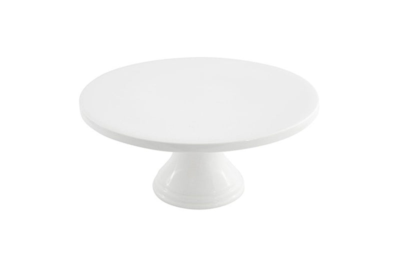 White Pedestal Cake Stand - 25cm - HIRE | Pop Roc Parties