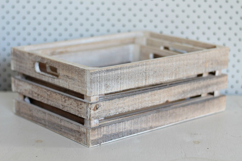 Whitewash Extra Large Wooden Crates | Pop Roc Parties
