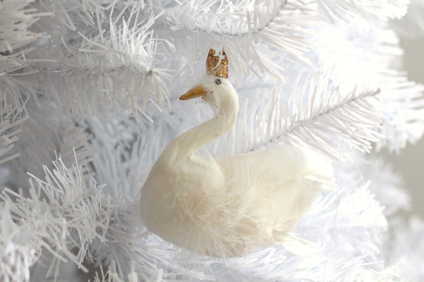Christmas Hanging Swan Decoration - Pop Roc Parties