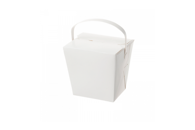 White Large Noodle Boxes - 26oz | Pop Roc Parties