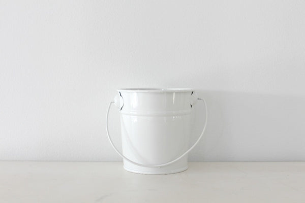 Mini White Steel Buckets - Pop Roc Parties