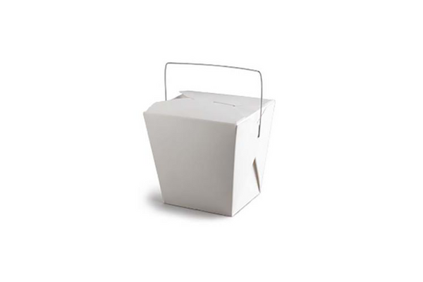 White Medium Noodle Boxes - Pop Roc Parties
