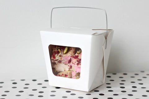 White Window Noodle Boxes - Pop Roc Parties