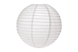 White Large Round Paper Lanterns - Pop Roc Parties