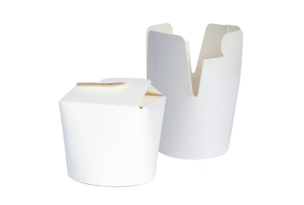 White Round Noodle Boxes - Pop Roc Parties