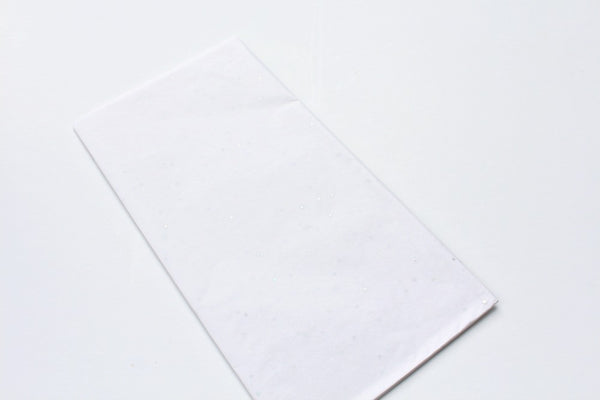 White Sparkle Tissue Paper | Pop Roc Parties