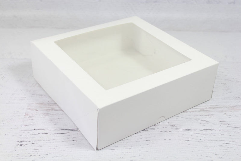 Large White Window Cake Box - Pop Roc Parties