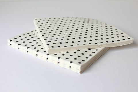 White Sweet Spotted Paper Napkins
