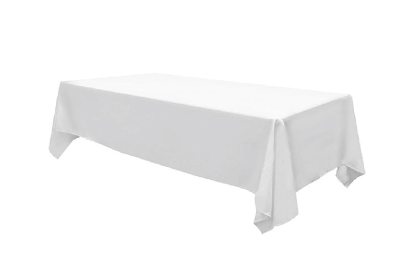 White Cotton Tablecloth - HIRE-Pop Roc Parties