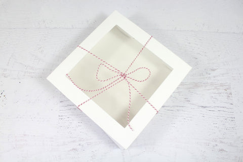 Large White Window Cake Box
