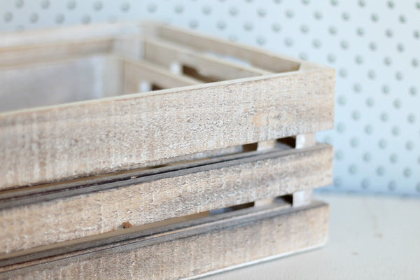 Whitewash Extra Large Wooden Crates - Pop Roc Parties