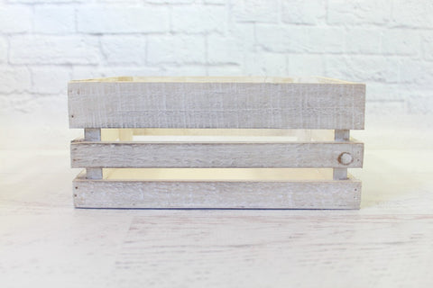 Whitewash Small Wooden Crates - Pop Roc Parties