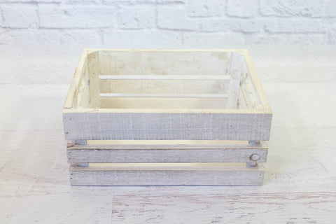Whitewash Small Wooden Crates