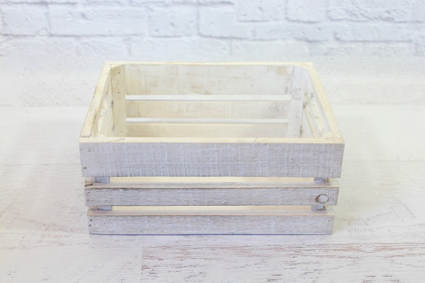 Small Whitewash Crate
