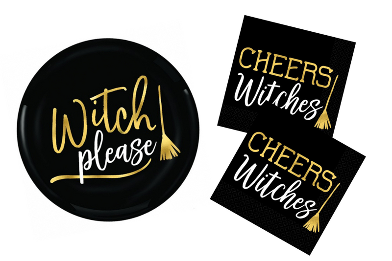 Witch Please! Plastic Plates | Pop Roc Parties
