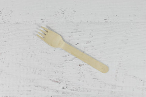 Eco Chic Plain Wooden Forks