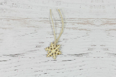 Mini Wooden Snowflake Decorations