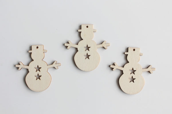 Wooden Snowman Decorations - Pop Roc Parties