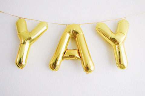 Mini Gold Foil Letter 'Y' Balloon