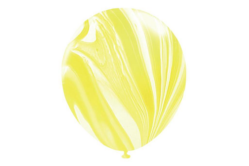 Yellow Marble Balloons | Pop Roc Parties