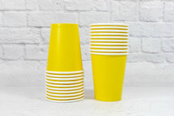 Yellow Paper Cups - Pop Roc Parties