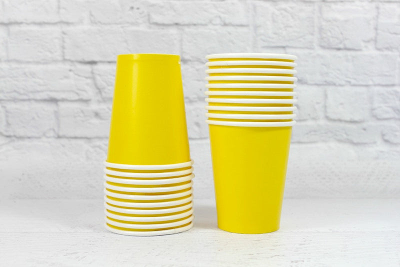 Yellow Paper Cups | Pop Roc Parties