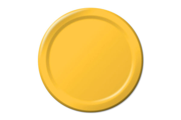 Yellow Small Paper Plates | Pop Roc Parties