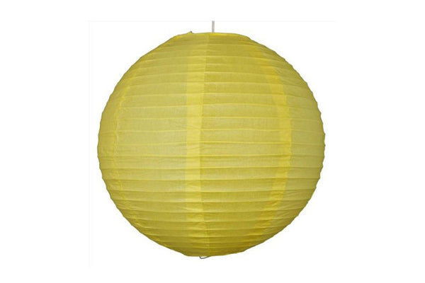 Yellow Round Paper Lanterns - Pop Roc Parties