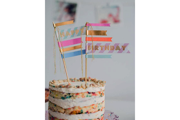 Toot Sweet Happy Birthday Cake Flags | Pop Roc Parties