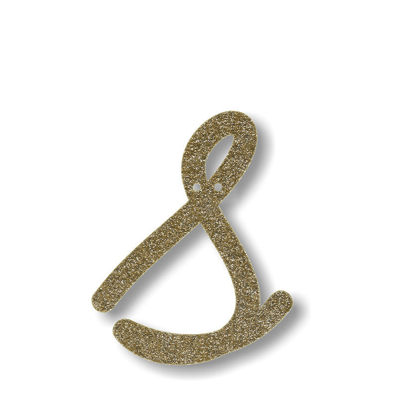 Gold Glitter Alphabet Banner Pennants | Pop Roc Parties