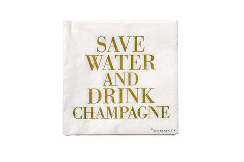 Save Water & Drink Champagne Napkins