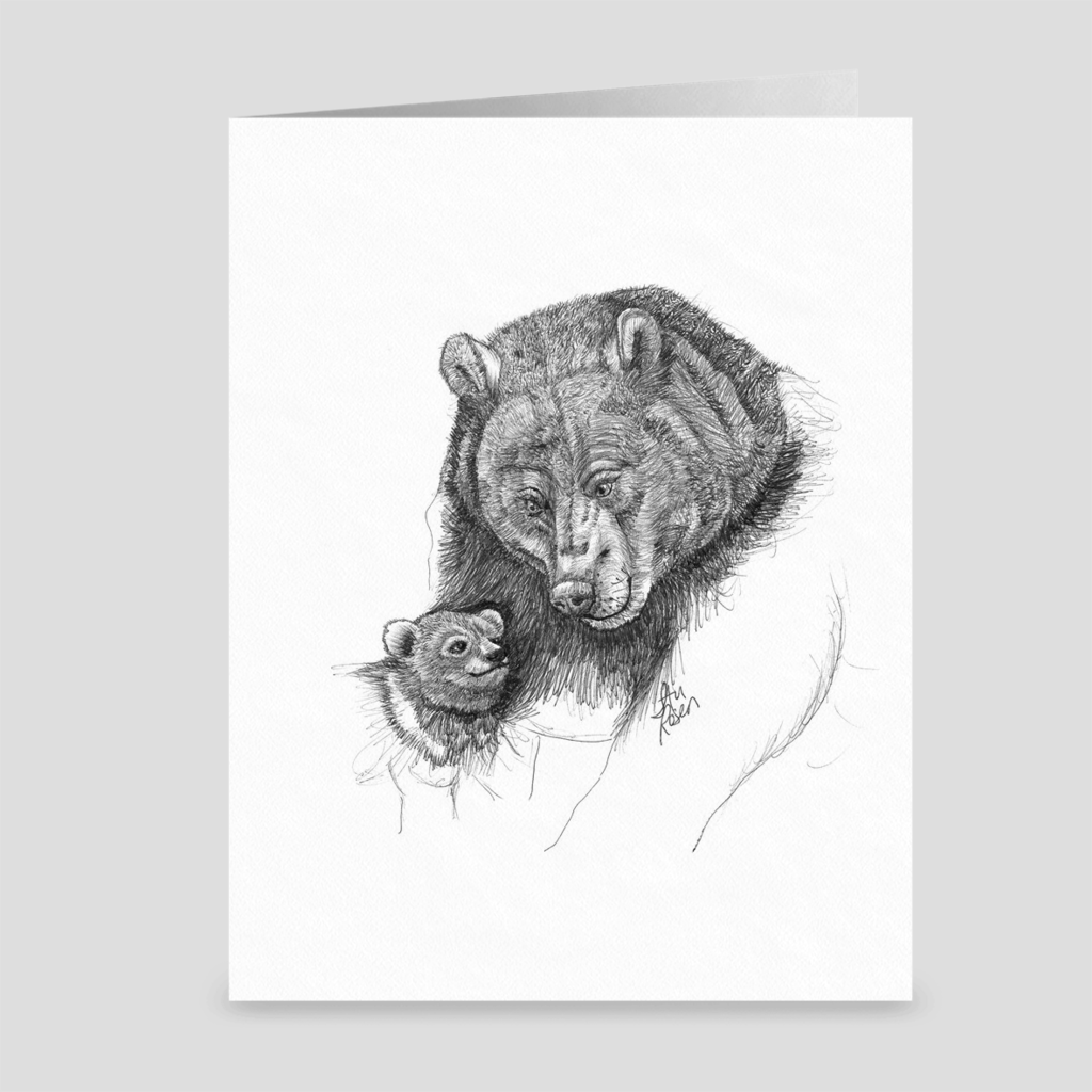 "Bear ""You and Me, Kid"" - Greeting Card"