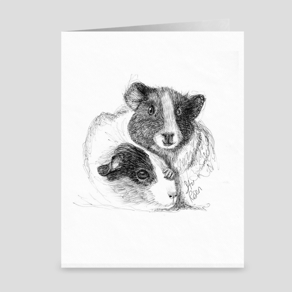 "Guinea Pigs ""Guinea Some Love"" - Greeting Card"