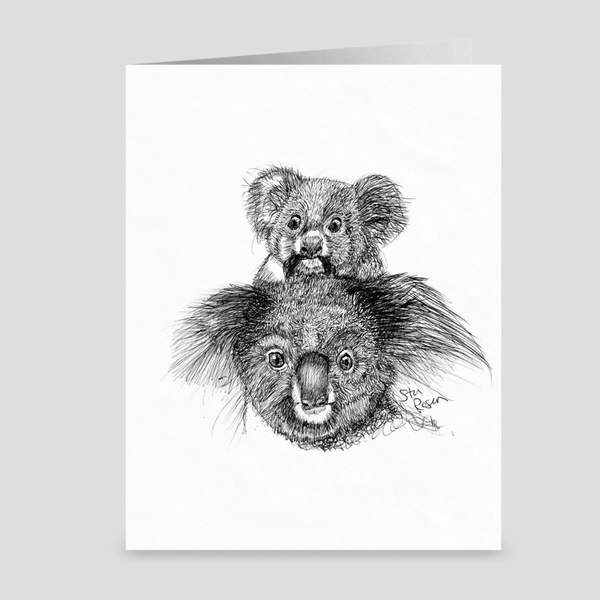 "Koala ""Snack Time"" - Greeting Card"
