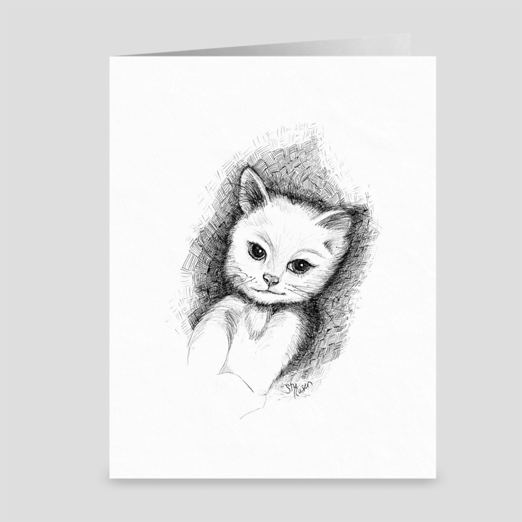 "Cat ""No Plans"" - Greeting Card"