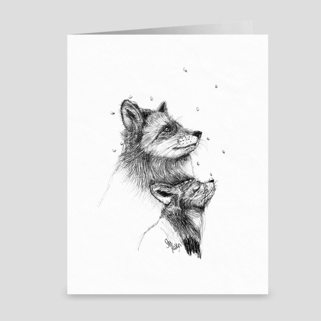"Fox ""First Snow"" - Greeting Card"