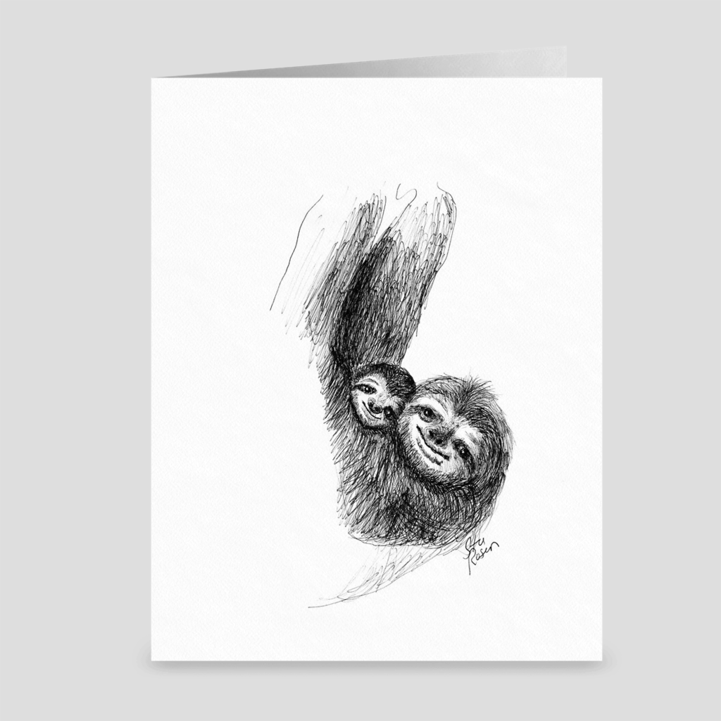 "Sloth ""Slow Day"" - Greeting Card"