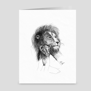 "Lion ""One Day"" - Greeting Card"