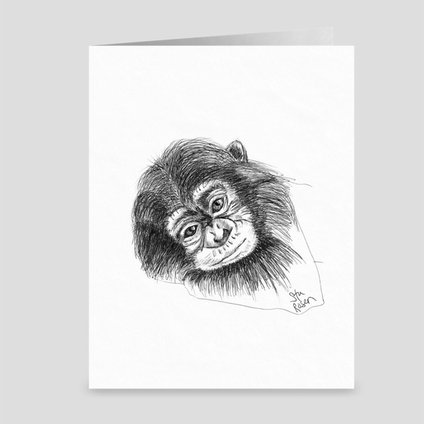 "Monkey ""I'm Gonna Stay"" - Greeting Card"