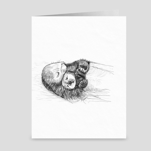 "Otter ""Snooze Cruise"" - Greeting Card"