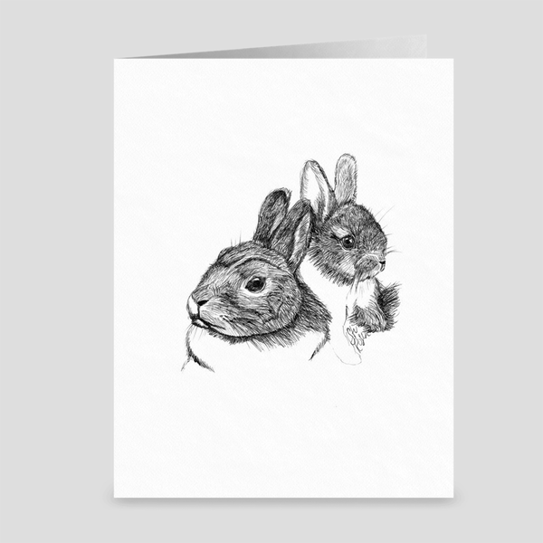 "Rabbit ""Some Bunny Loves You"" - Greeting Card"