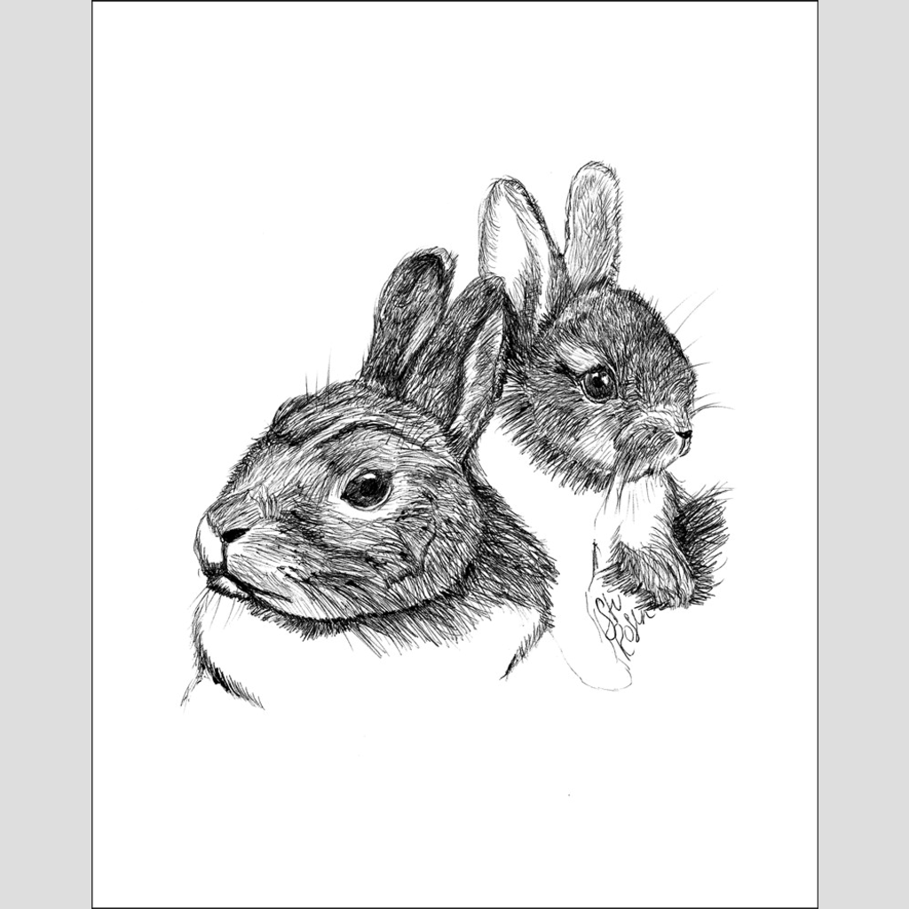 "Rabbit ""Some Bunny Loves You"" - Giclee Print"