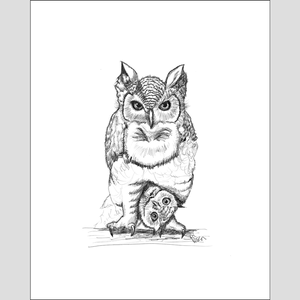 "Owl ""Who Dat?"" - Giclee Print"