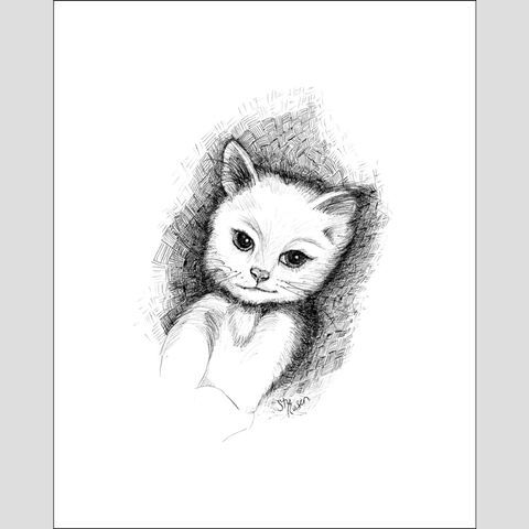 "Cat ""No Plans"" - Giclee Print"