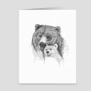"Bear ""Overlook"" - Greeting Card"