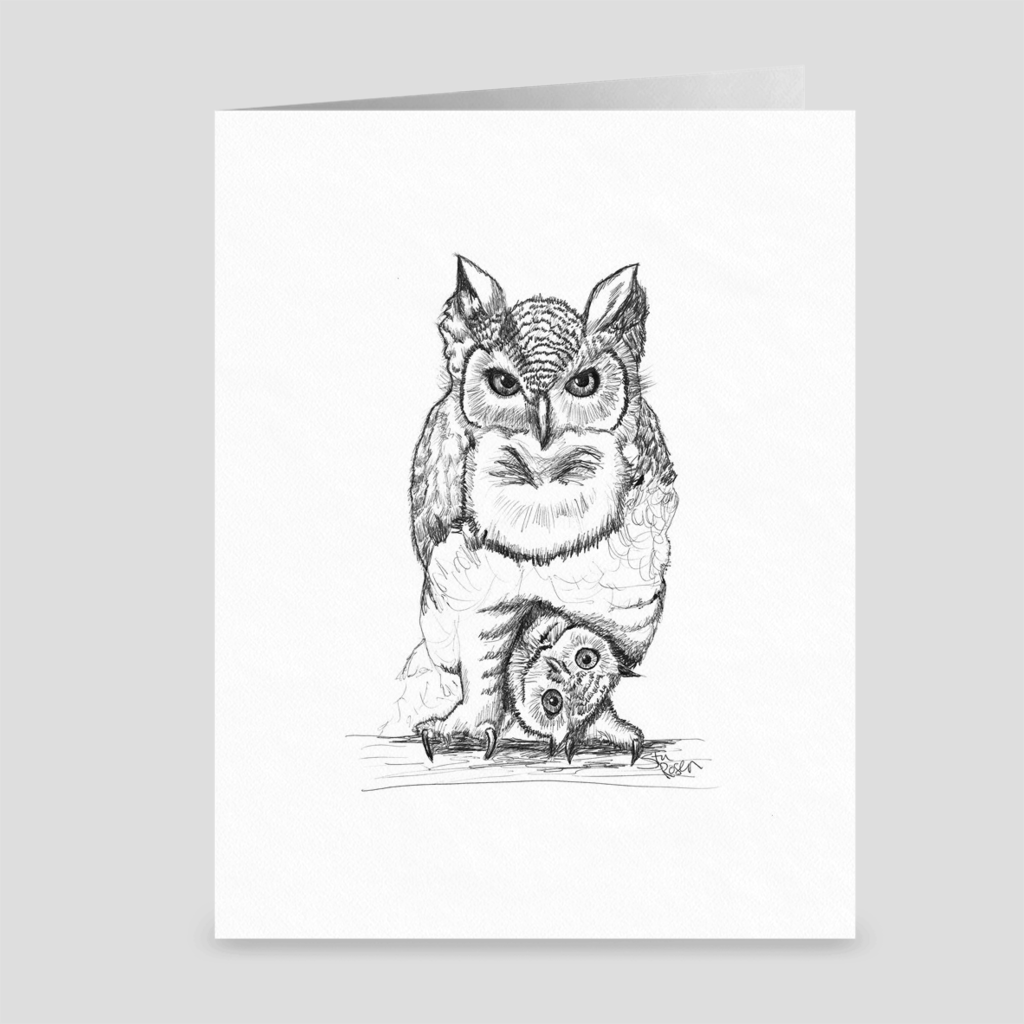 "Owl ""Who Dat?"" - Greeting Card"