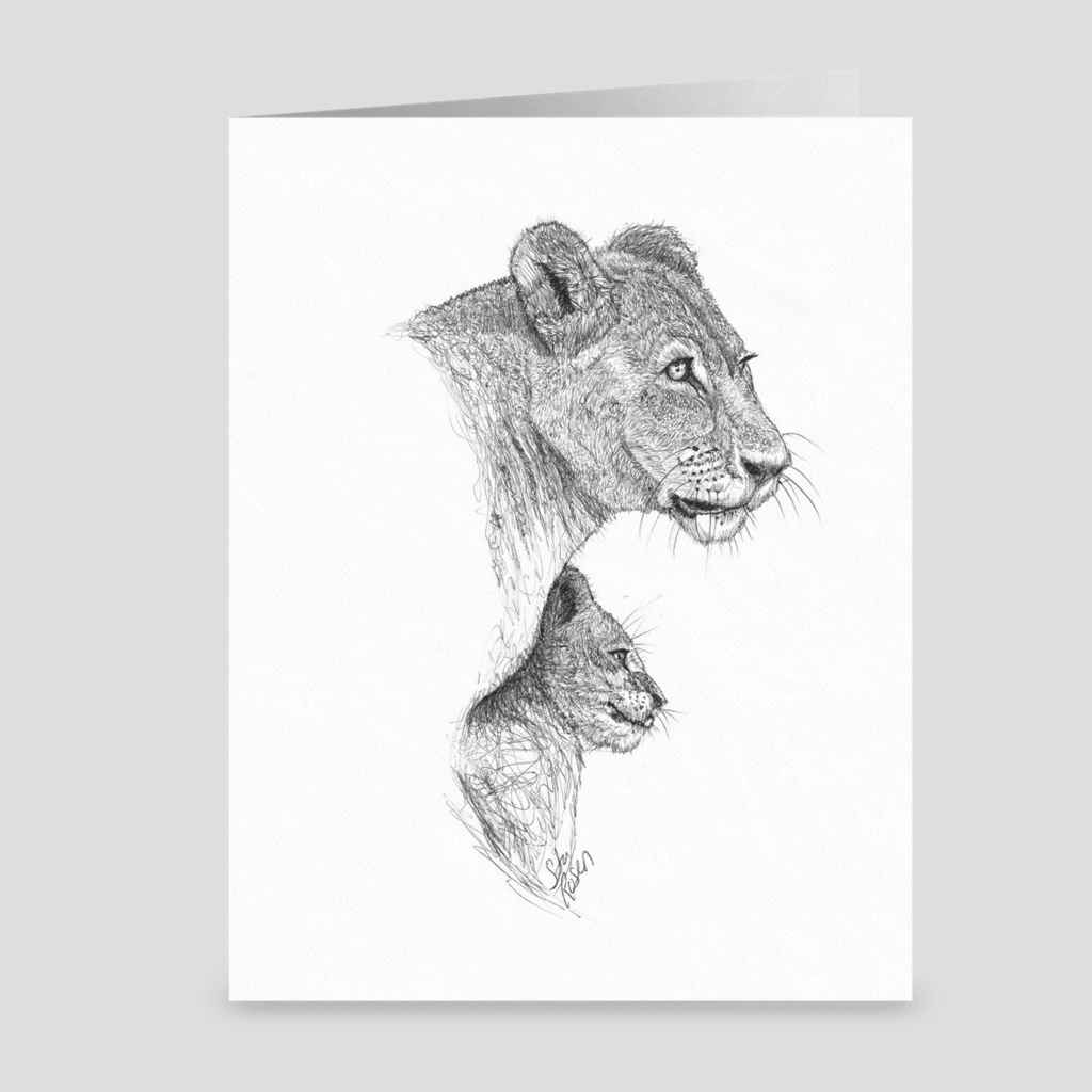 "Lion ""Safe"" - Greeting Card"