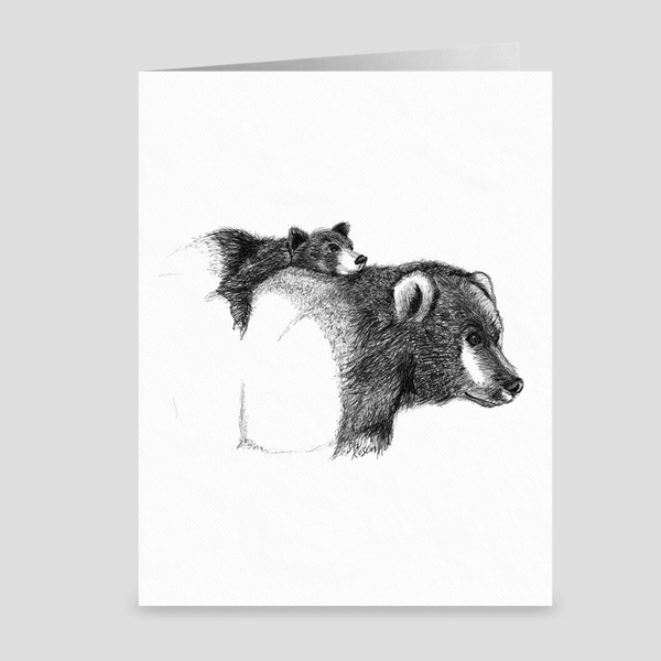 "Bear ""Bear Hug"" - Greeting Card"